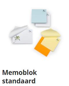 memoblok-standaard