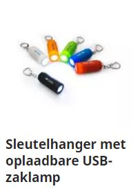 Sleutelhanger met oplaadbare USB-zaklamp