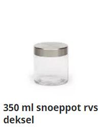 350 ml snoeppot rvs deksel